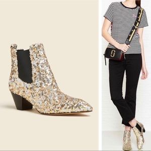 MARC JACOBS Kim Chelsea Sequin Ankle Boot